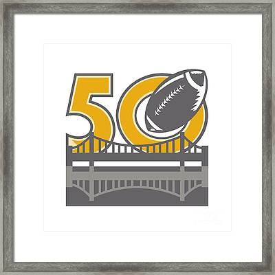Pro Football Championship 50 Ball Bridge Framed Print by Aloysius Patrimonio