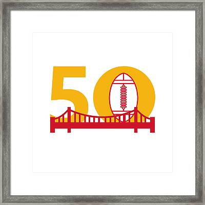 Pro Football Championship 50 Bridge Framed Print by Aloysius Patrimonio