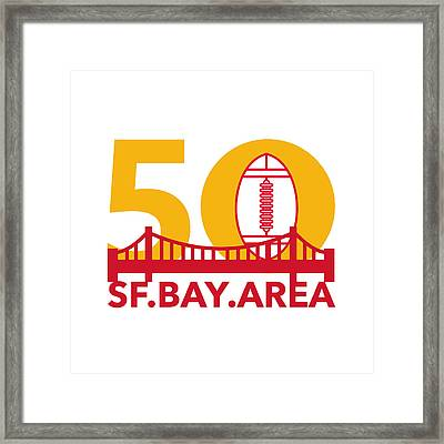 Pro Football Championship 50 Sf Bay Area Framed Print by Aloysius Patrimonio