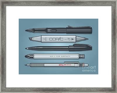 Pro Pens Framed Print