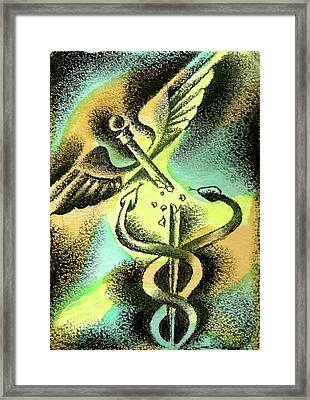 Problems Of Healthcare Framed Print by Leon Zernitsky