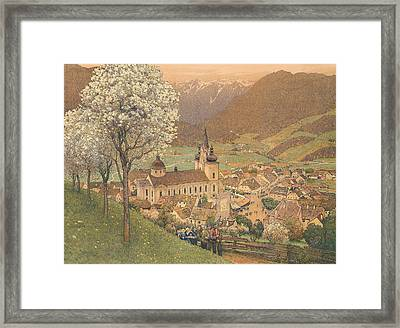 Procession At Mariazell Framed Print