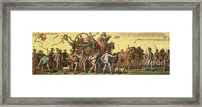 Procession Of Homage In Honour Of Emperor Franz Joseph I Of Austria Framed Print