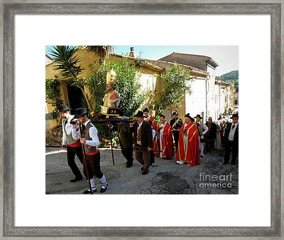 Procession Of Saint Clement Framed Print