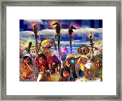 Procession Of The Cybernagas Framed Print