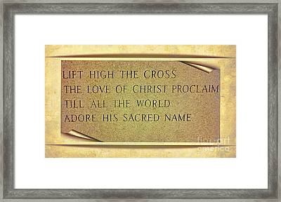 Proclaim His Name Framed Print by Kathleen Struckle