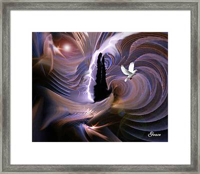 Proclaiming The Glory Framed Print by Julie Grace