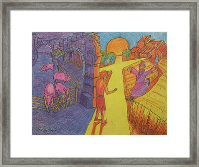 Prodigal Son Parable Painting By Bertram Poole Framed Print by Thomas Bertram POOLE