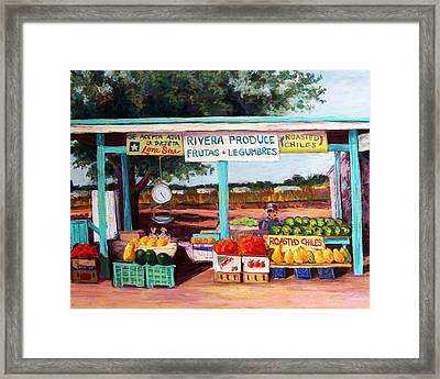 Produce Stand Framed Print by Candy Mayer