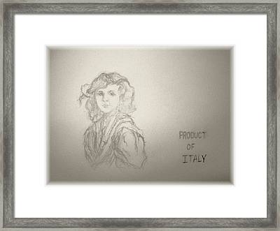 Product Of Italy Framed Print by Nancy Caccioppo