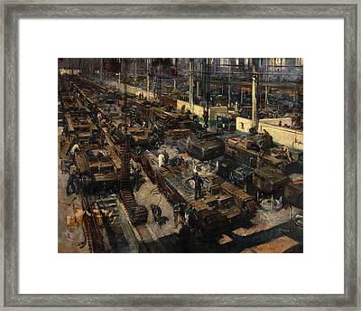Production Of Tanks Framed Print by Mountain Dreams
