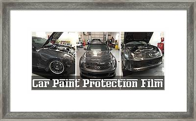 Professional Car Paint Protection Film Framed Print