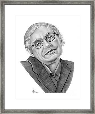 Professor Stephen Hawkings Framed Print