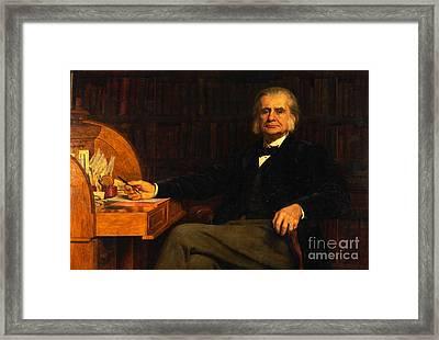 Professor Thomas Henry Huxley Framed Print