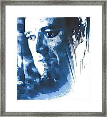 Profile Of An Eccentric Doctor Framed Print by Mario Carini