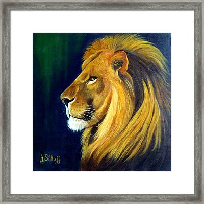 Profile Of The King Framed Print by Janet Silkoff