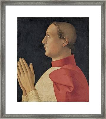 Profile Portrait Of Cardinal Philippe De Levis Framed Print