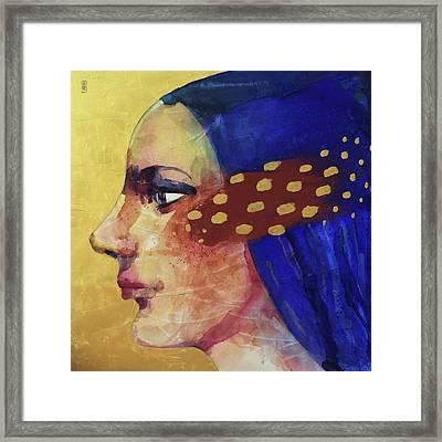 Profilo Di Donna Framed Print by Alessandro Andreuccetti