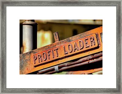 Profit Loader Framed Print by David Lawson