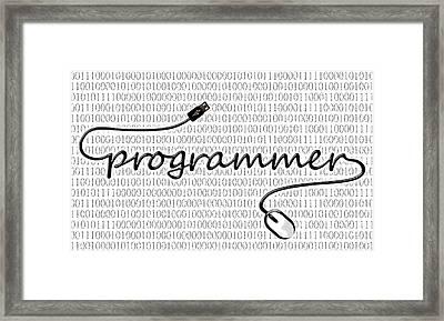 Programmer Framed Print by Anastasiya Malakhova