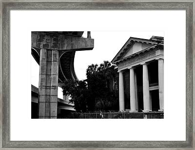 Progress And Decay Framed Print