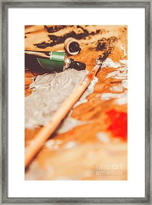 Progress Of Oil Painting Framed Print by Jorgo Photography - Wall Art Gallery