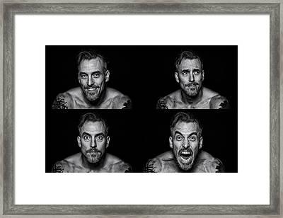 Progression To Mayhem Framed Print by CJ Schmit