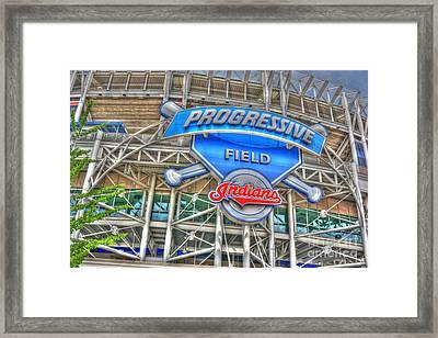 Progressive Field Framed Print by David Bearden