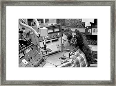 Progressive Rock Disc Jockey, 1975 Framed Print