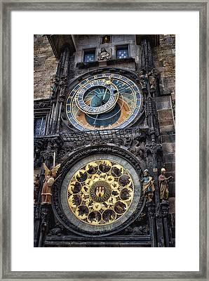 Progue Astronomical Clock Framed Print