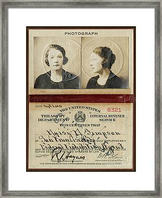 Prohibition Agent Framed Print by Jon Neidert