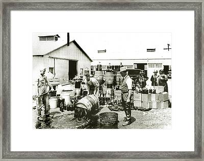 Prohibition Agents Framed Print