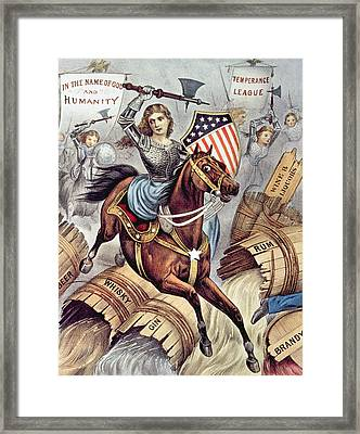 Prohibition And The Womans Holy War Aka Framed Print by Everett