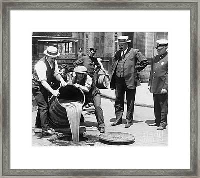 Prohibition, C1921 Framed Print