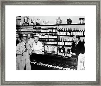 Prohibition Drug Store Framed Print