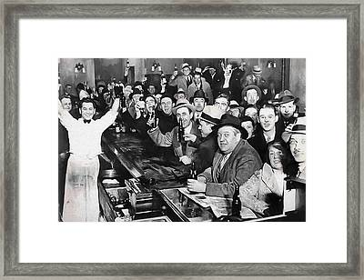 Prohibition Ends Celebration Dec 5, 1933 Framed Print by Daniel Hagerman