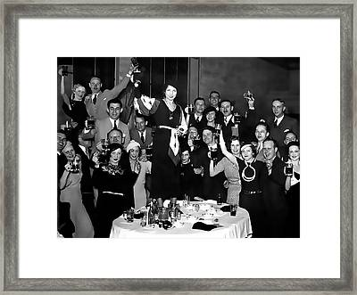 Prohibition Ends Party 1933 Framed Print