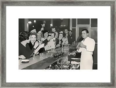 Prohibition Era Bar And Bartender Framed Print