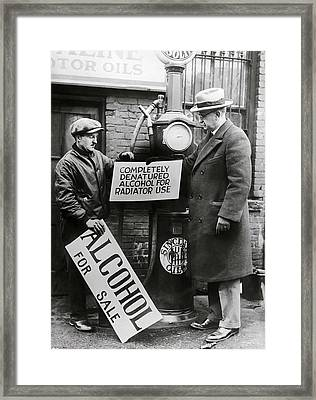 Prohibition Gas Station  1927  Framed Print by Daniel Hagerman