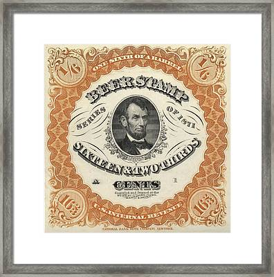 Prohibition Lincoln Beer Stamp Framed Print by Dan Sproul
