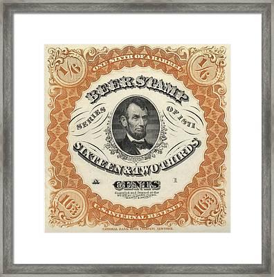 Prohibition Lincoln Beer Stamp Framed Print