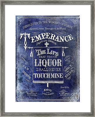Prohibition Lips Framed Print by Jon Neidert