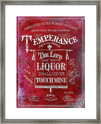 Prohibition Lips Red Framed Print by Jon Neidert