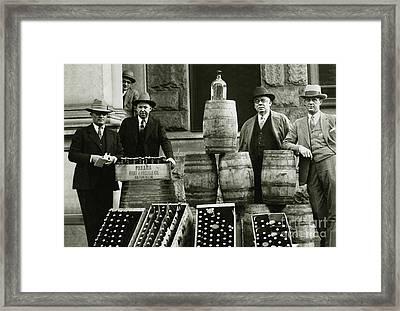 Prohibition Officers Framed Print by Jon Neidert