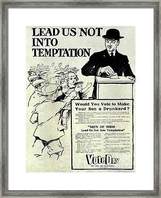 Prohibition Propaganda  Framed Print by Jon Neidert