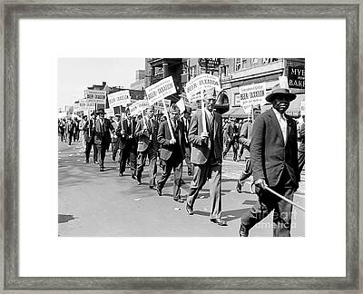 Prohibition Protest March Framed Print