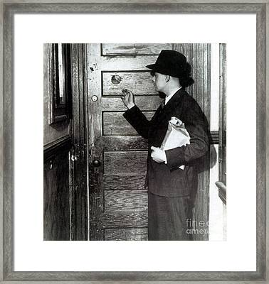 Prohibition, Speakeasy Peephole, 1930s Framed Print