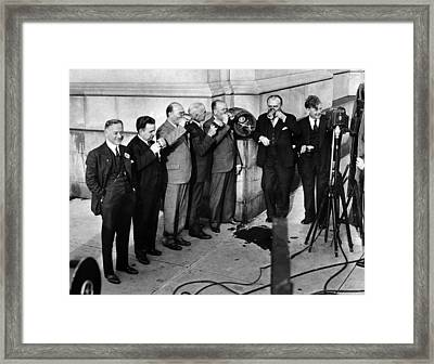 Prohibition Wet Congressmen Drinking Framed Print by Everett