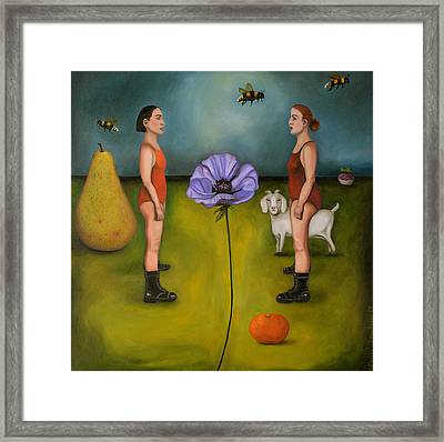 Project X In The Garden Framed Print by Leah Saulnier The Painting Maniac