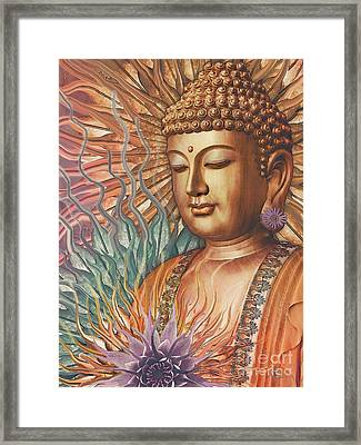 Proliferation Of Peace - Buddha Art By Christopher Beikmann Framed Print